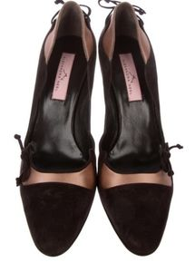 Alexandra Neel Suede and Satin Pumps